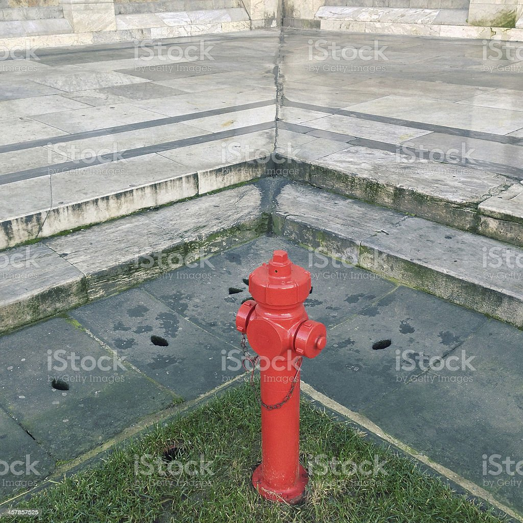 fire hydrant in historic background royalty-free stock photo