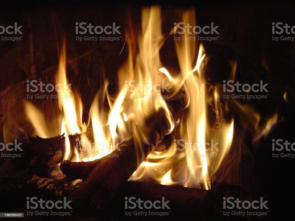 Fire II stock photo