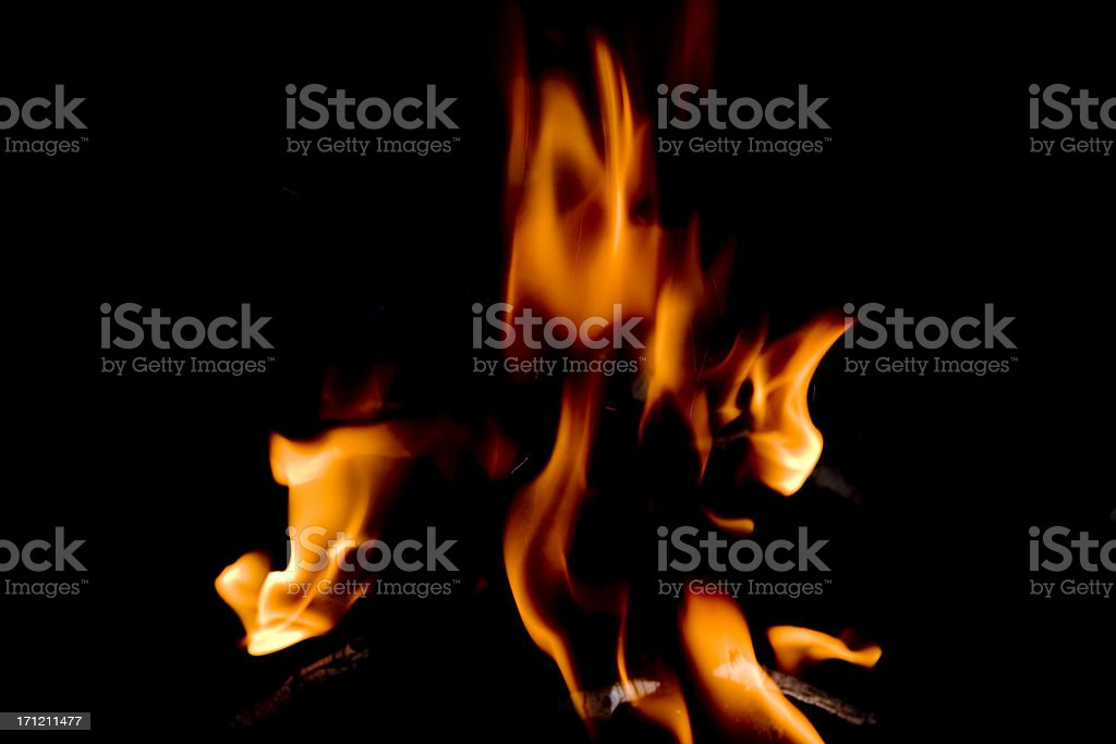 Fire in the dark royalty-free stock photo