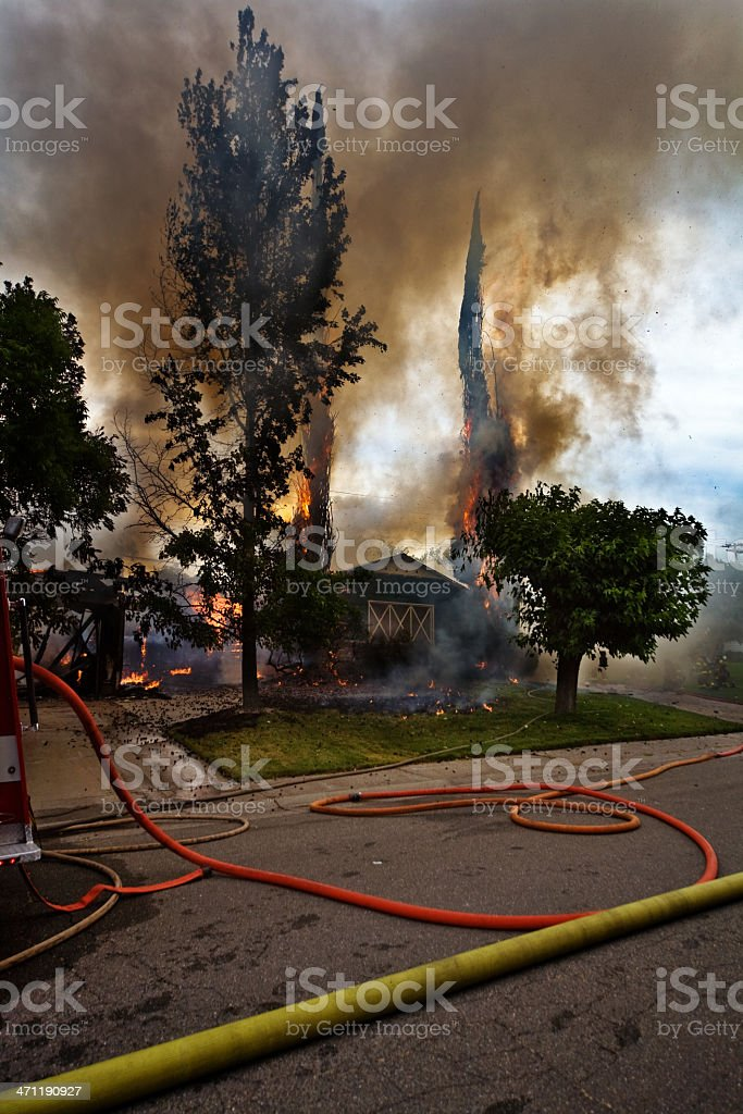 Fire In The Neighborhood royalty-free stock photo