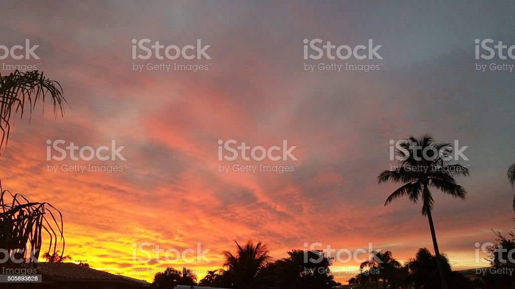 Fire in the Sky stock photo