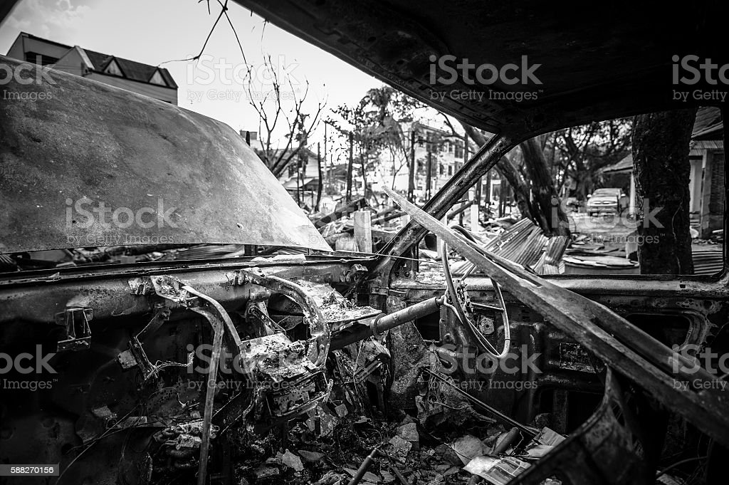 Fire incident stock photo