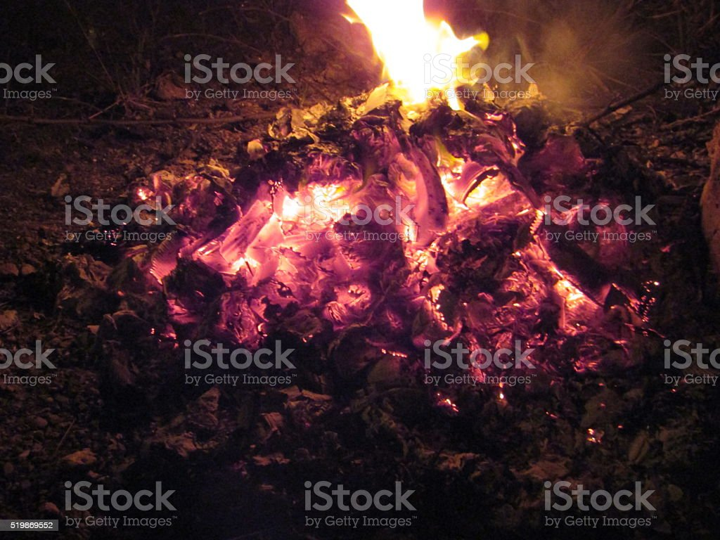 Fire is on royalty-free stock photo