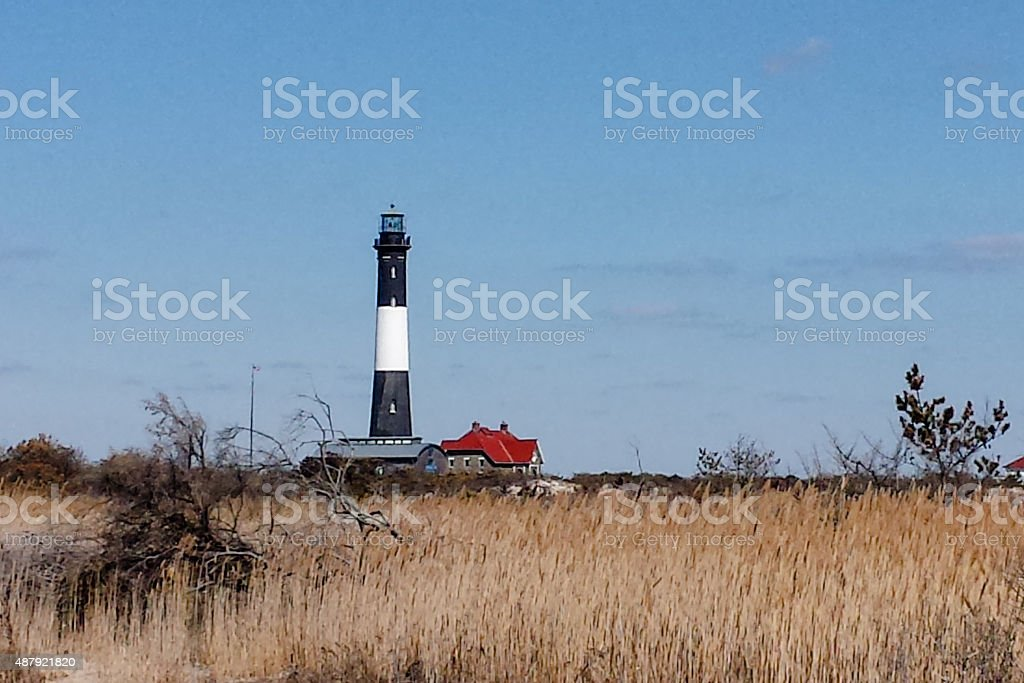 Fire Island Lighthouse from a Distance stock photo