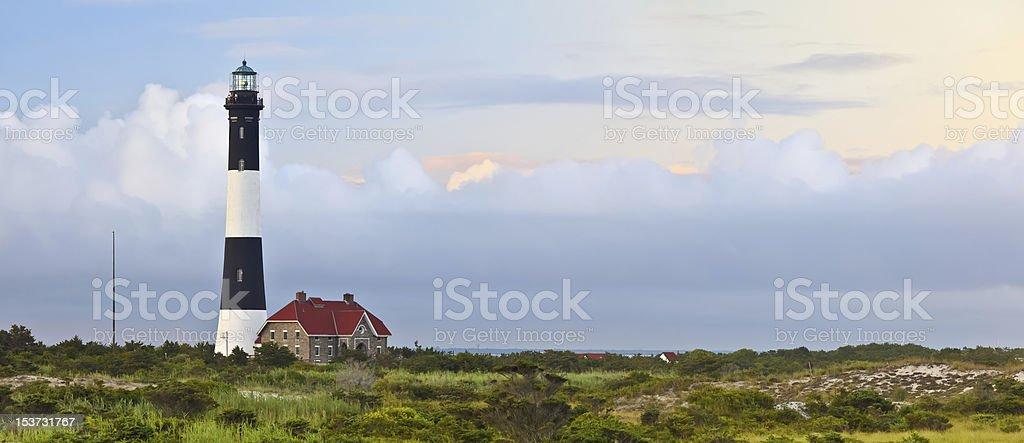 Fire Island Lighthouse Panorama stock photo