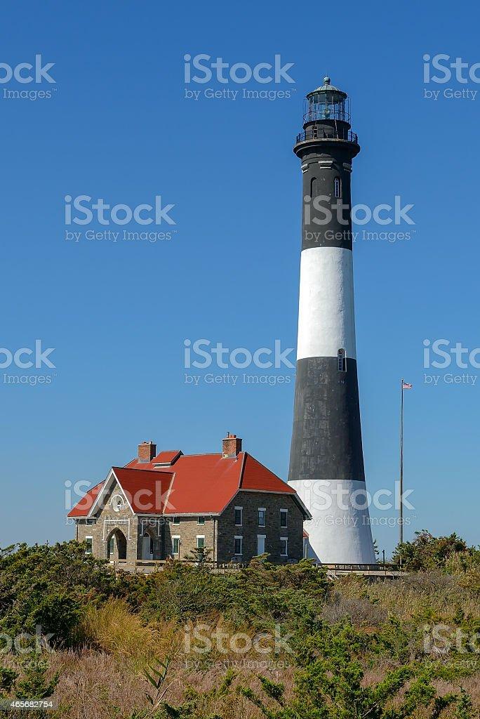 Fire Island Lighthouse stock photo
