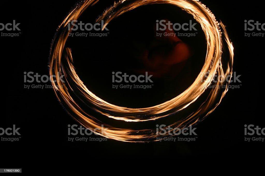 fire juggler stock photo