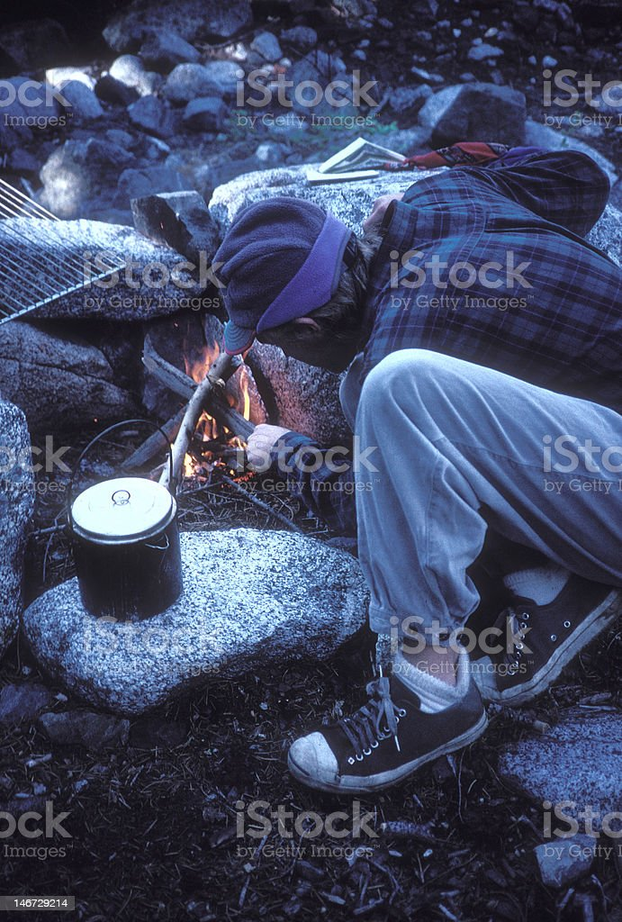 Fire Keeper royalty-free stock photo