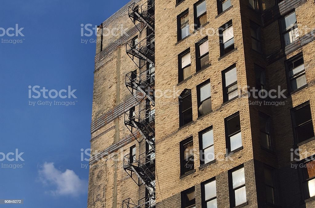 Fire Ladder royalty-free stock photo