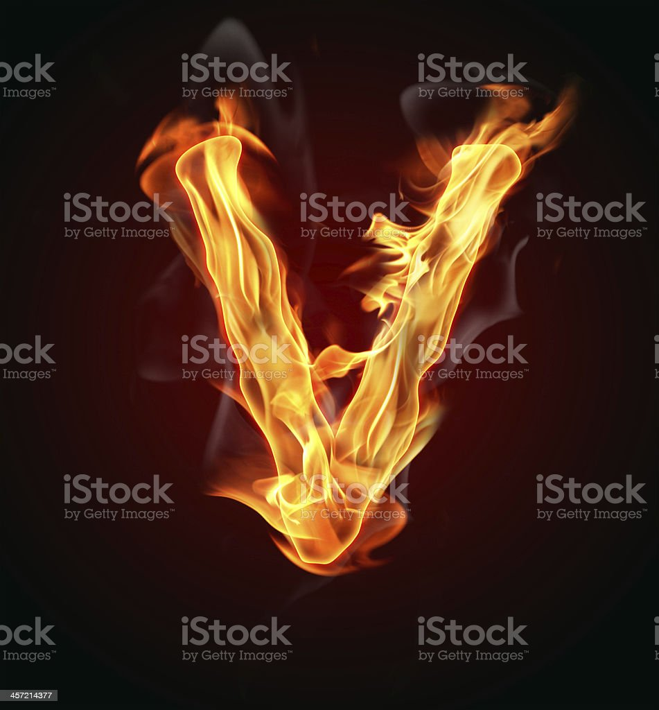 Fire letter royalty-free stock photo