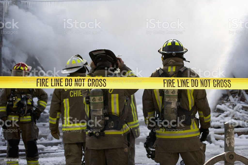 Fire line royalty-free stock photo