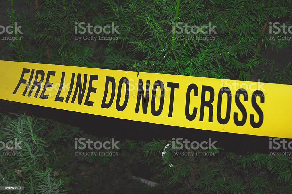 Fire Line Tape royalty-free stock photo