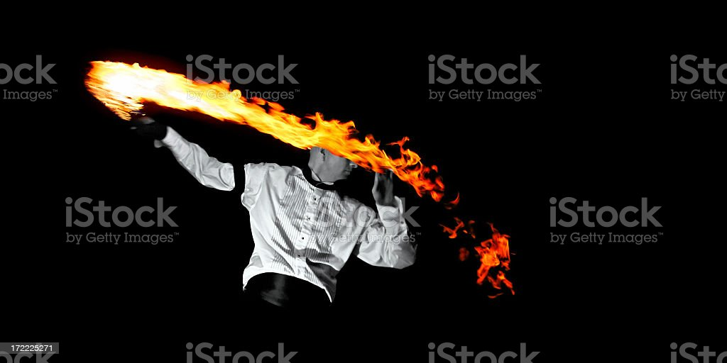 fire magician royalty-free stock photo