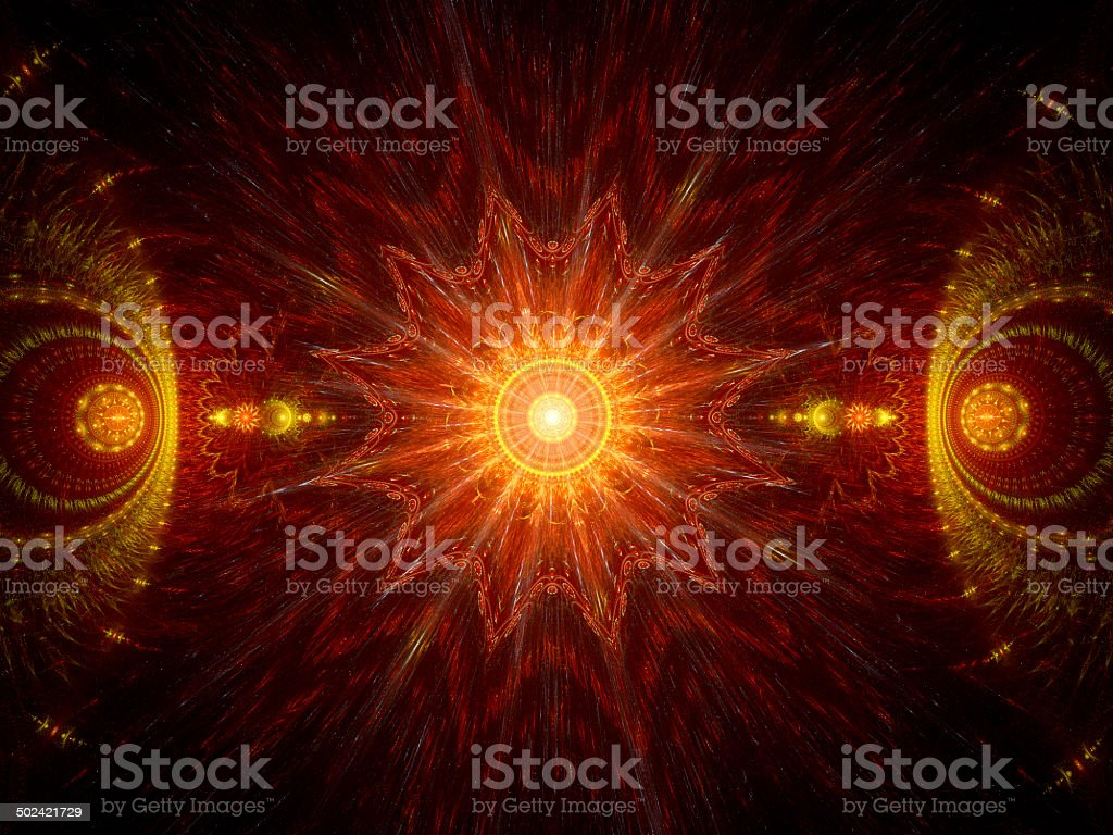 Fire mandala royalty-free stock photo