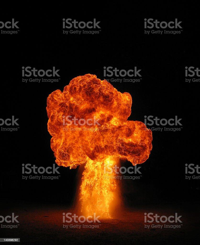 fire mushroom cloud royalty-free stock photo