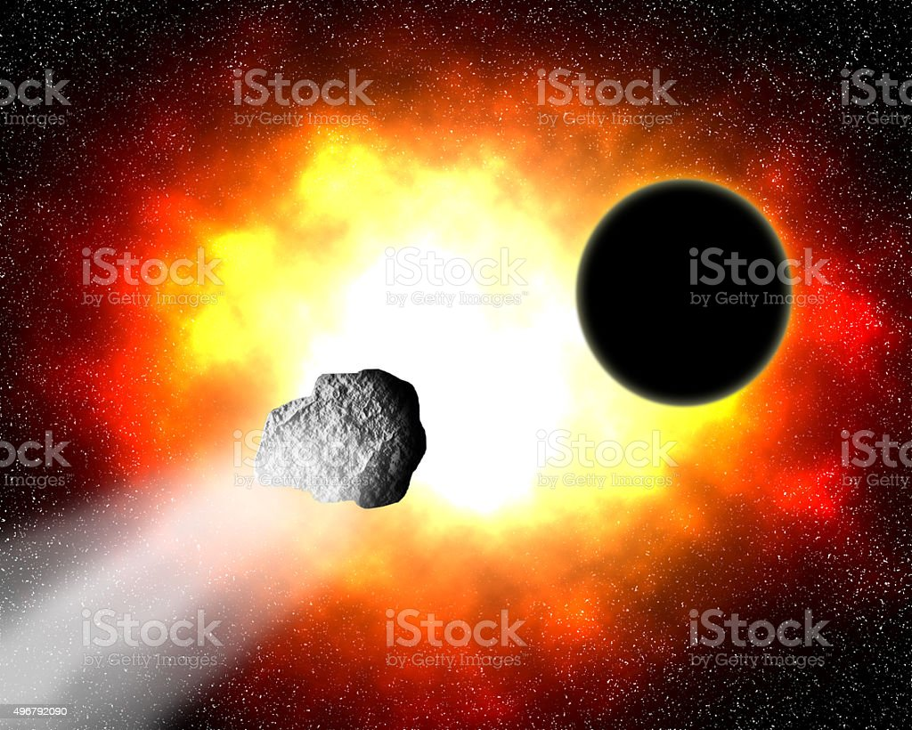 Fire nebula. stock photo