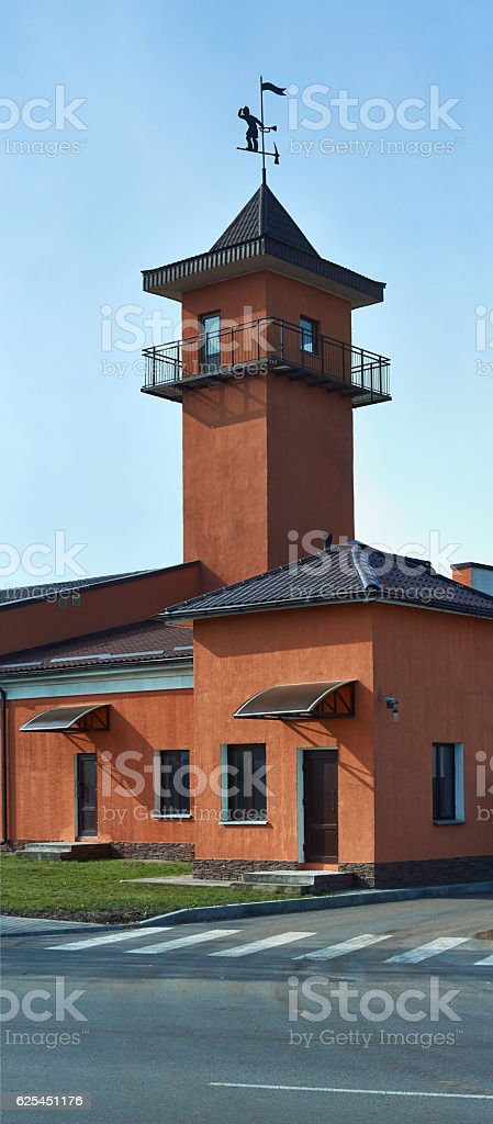 Fire   of the  fire station. stock photo