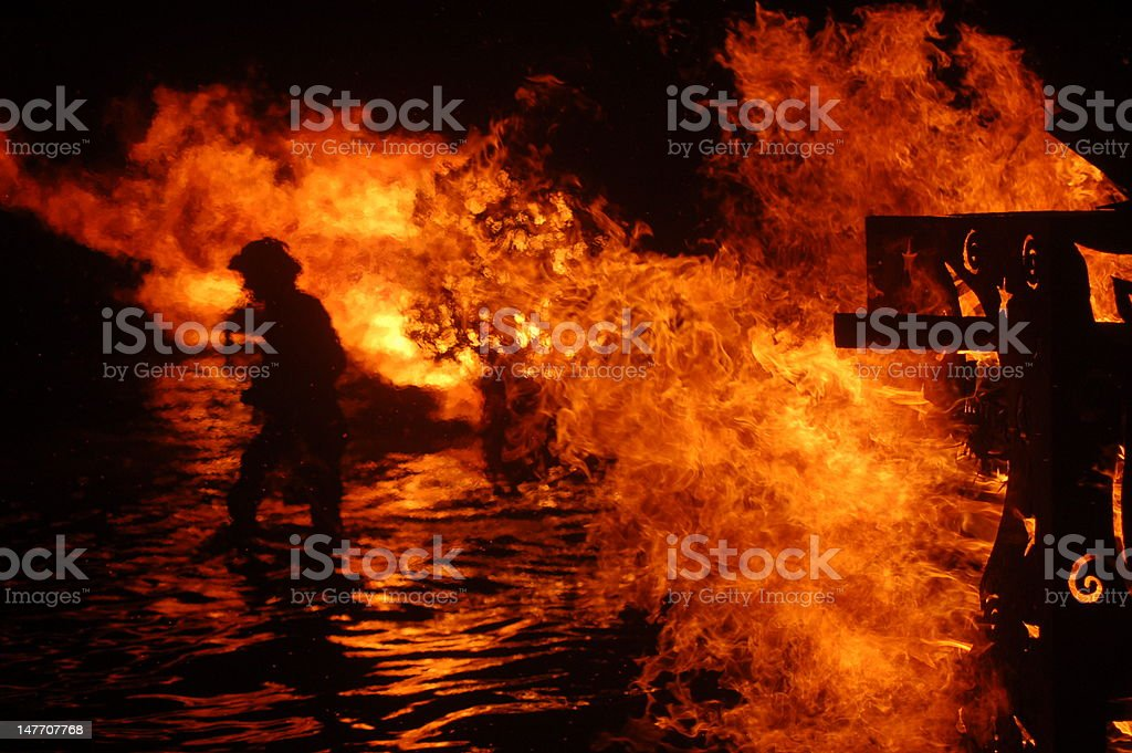 Fire of the Full Moon Celebration royalty-free stock photo