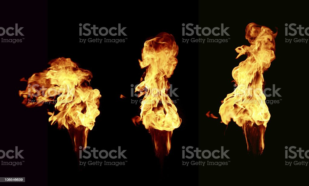 Fire on black royalty-free stock photo