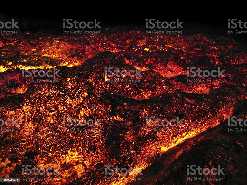 LAVA fire royalty-free stock photo