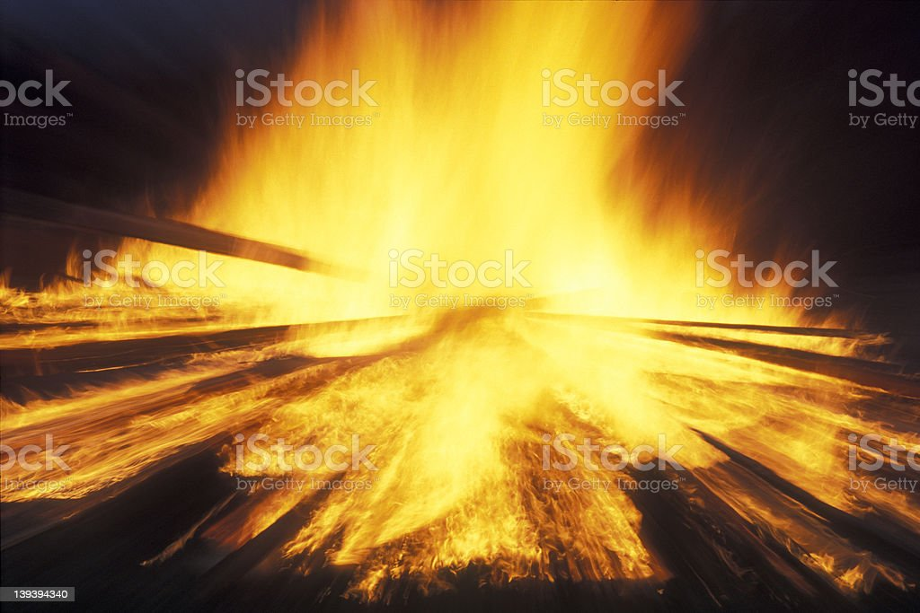 Fire ! stock photo