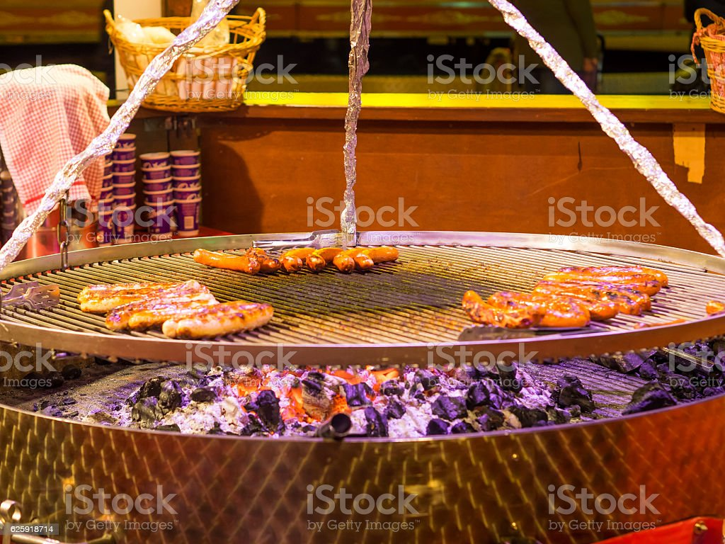 BBQ Fire Pit stock photo