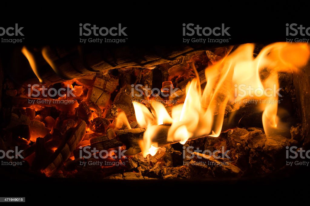 Fire place stock photo