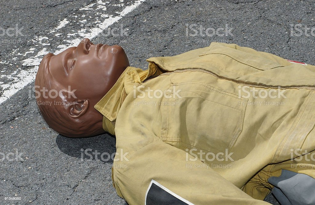 Fire practice dummy royalty-free stock photo
