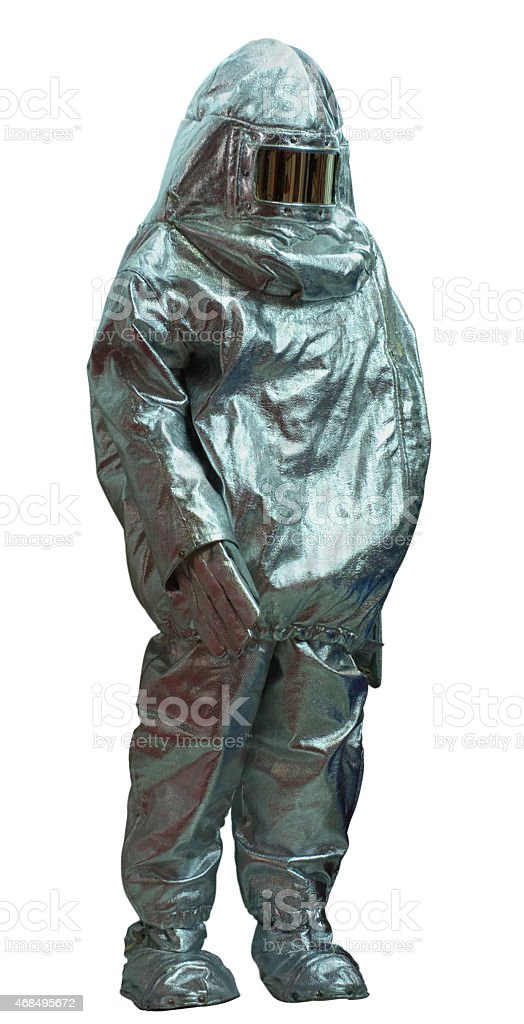 Fire proximity suit stock photo