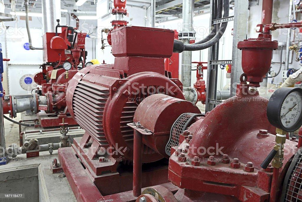 Fire Pump stock photo