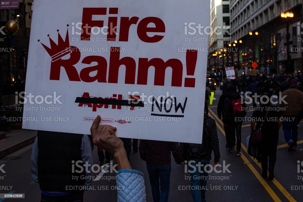 Fire Rahm! stock photo
