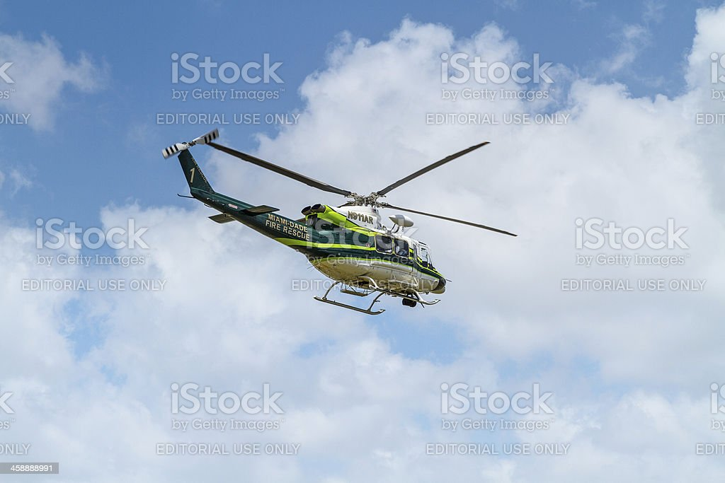 Fire Rescue Helicopter II royalty-free stock photo
