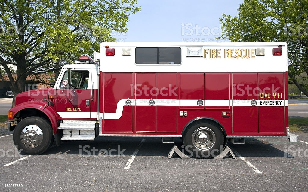 Fire Rescue Truck royalty-free stock photo