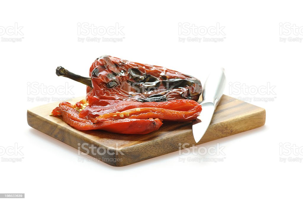 Fire Roasted Red Pepper royalty-free stock photo
