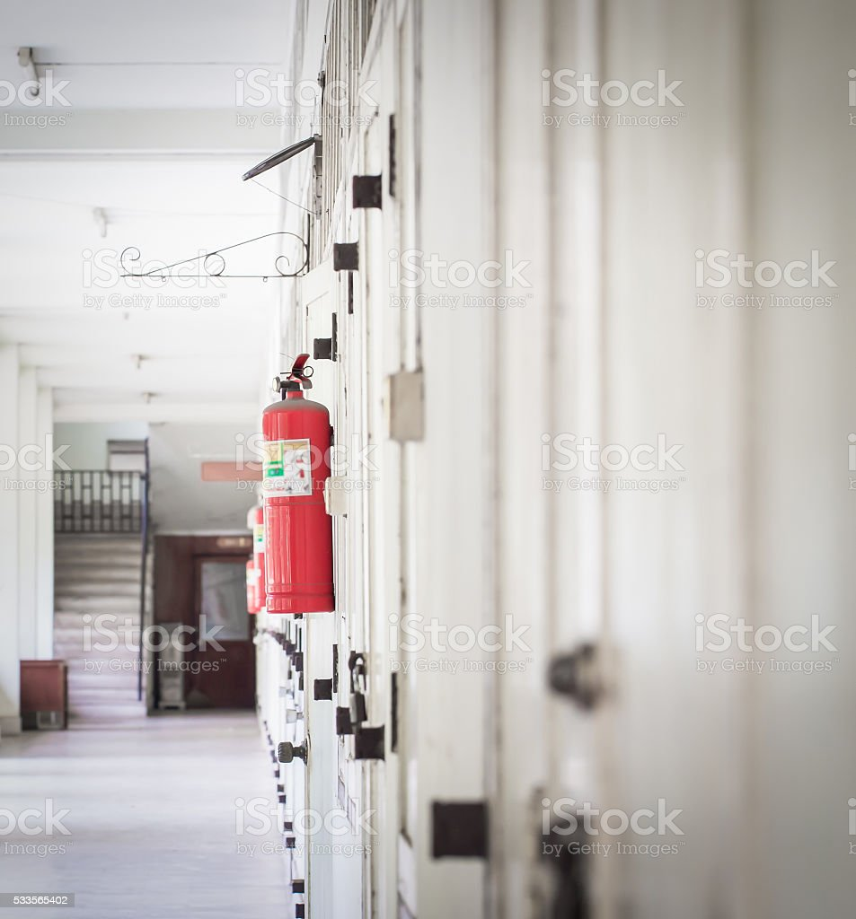 Fire safety in building stock photo