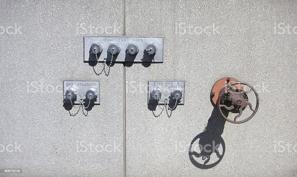 Fire Safety: Stand Pipes stock photo