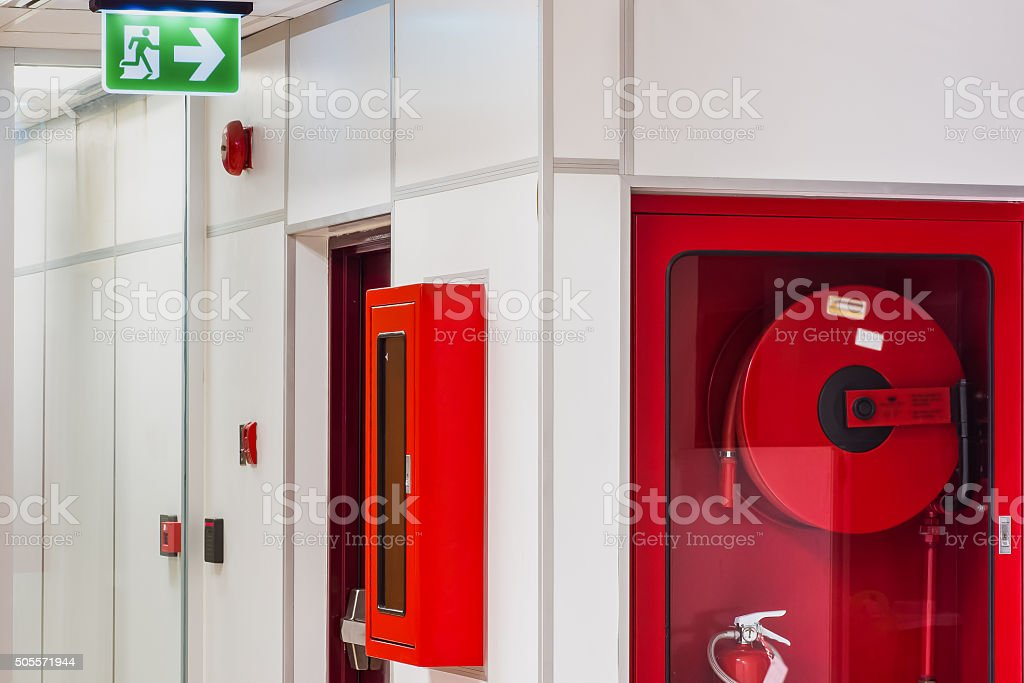 Fire safety system stock photo