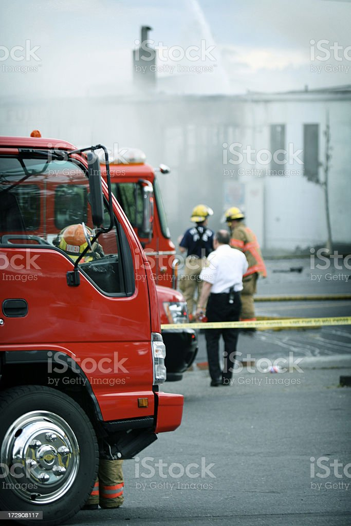 Fire Scene royalty-free stock photo