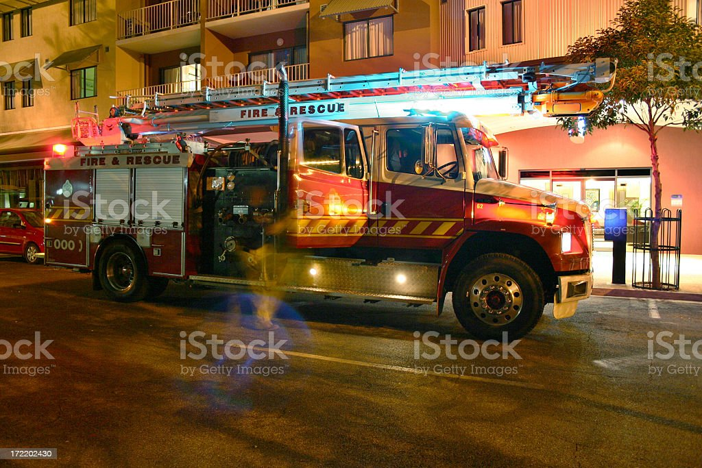 fire scene rescue stock photo