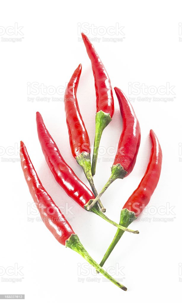 fire shape chillis royalty-free stock photo