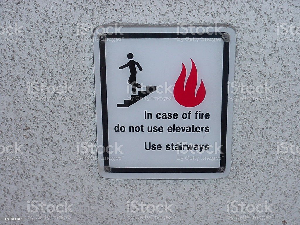 fire sign stock photo