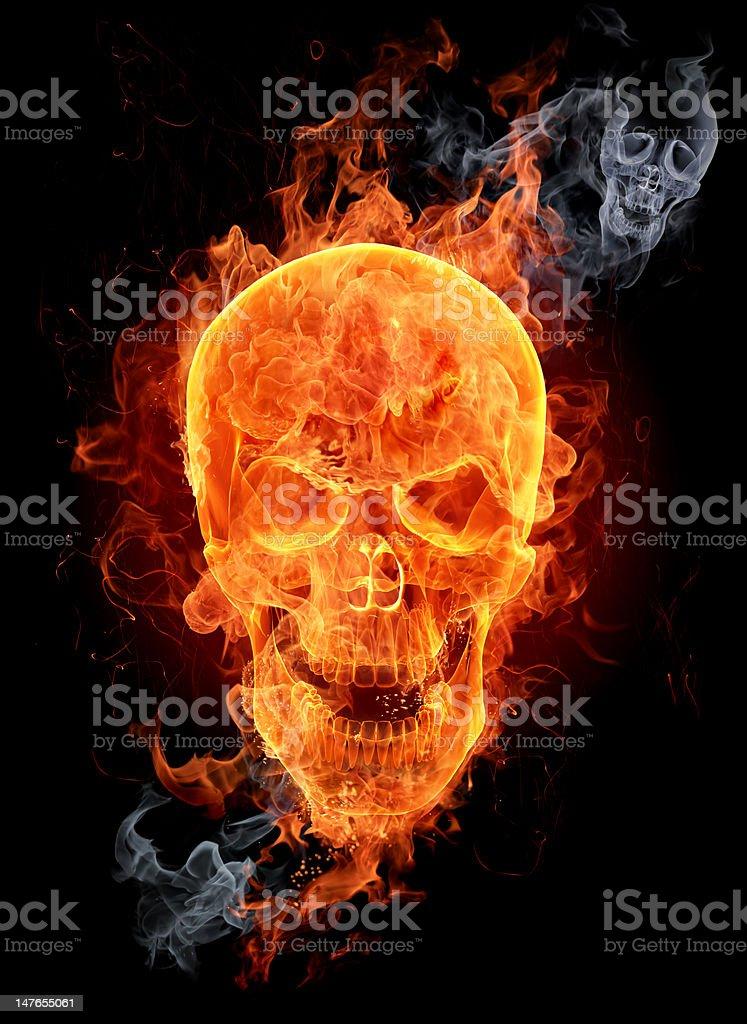 Fire skull stock photo