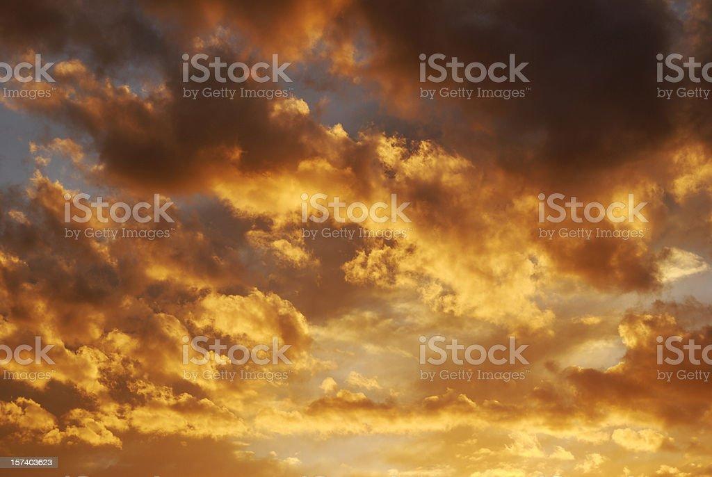 Fire sky royalty-free stock photo