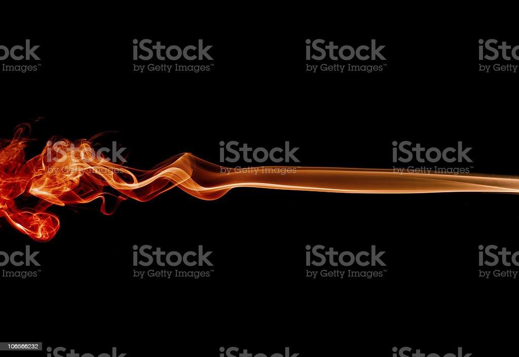 Fire smoke royalty-free stock photo