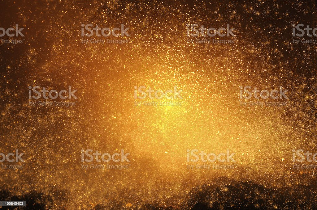 Fire spark golden background shot in a steel manufacturing industry stock photo