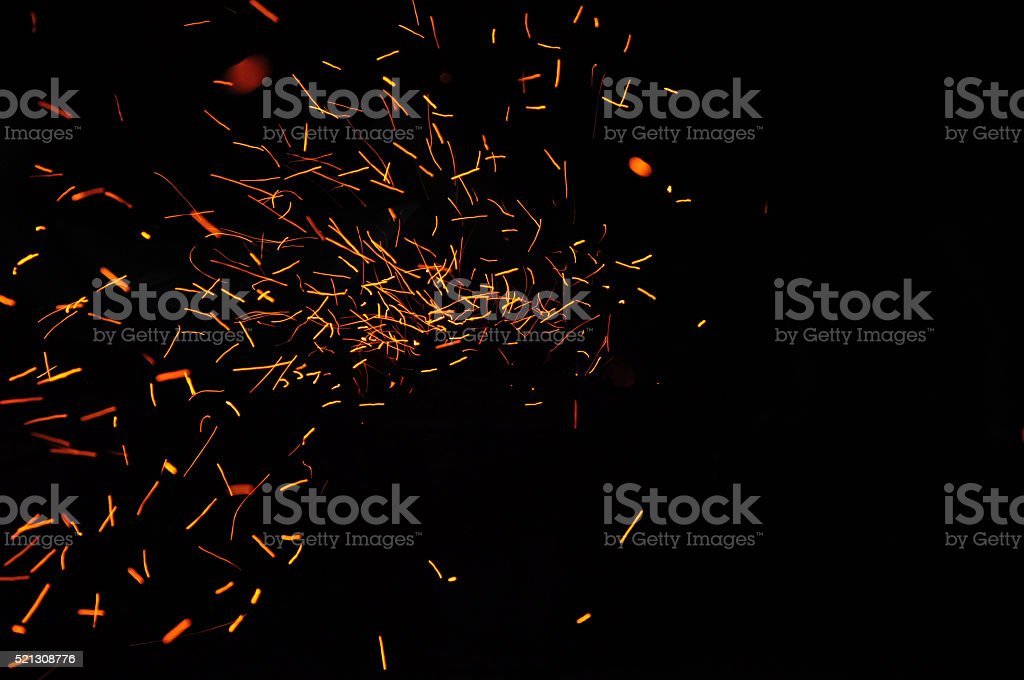 Fire spark light stock photo