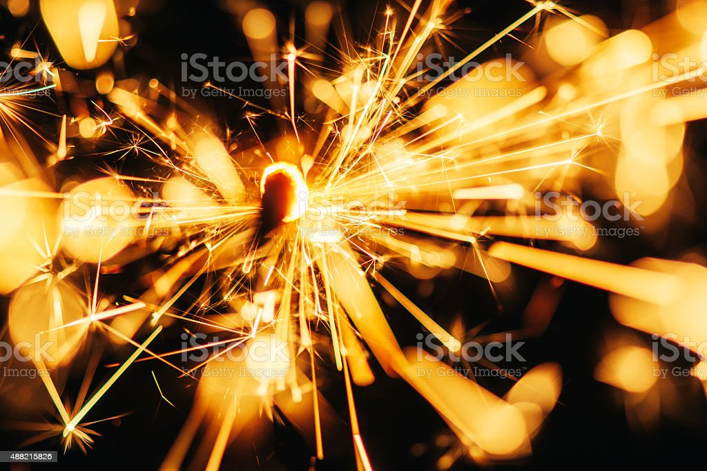 Fire Sparkler Background stock photo