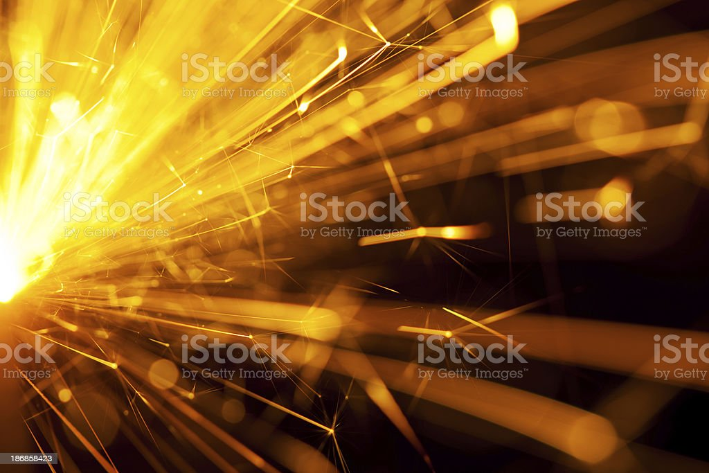 Fire Sparkler royalty-free stock photo