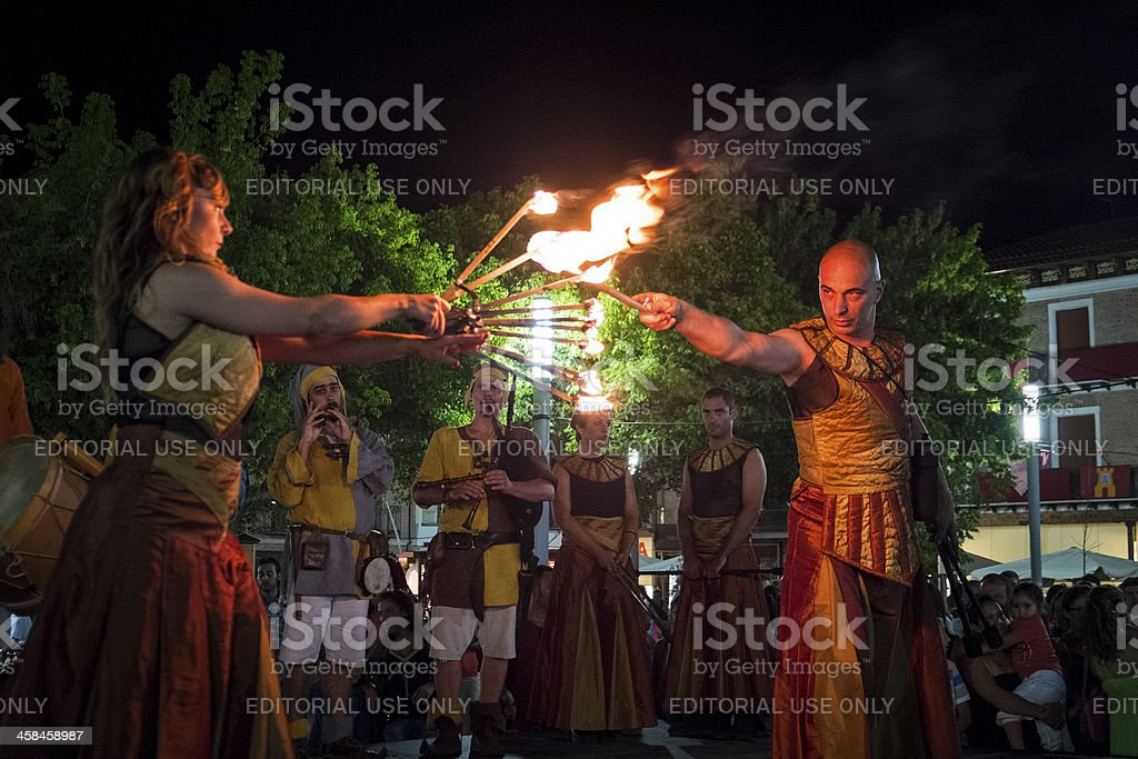 Fire spectacle stock photo