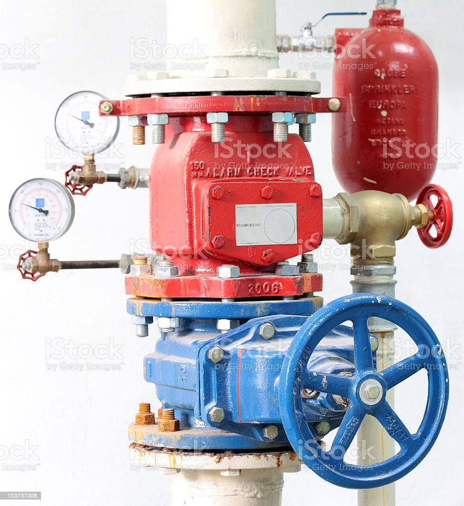 Fire Sprinkler Control System royalty-free stock photo